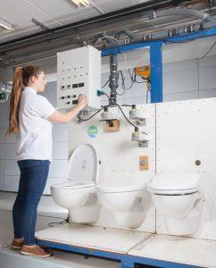 Vacuum toilet testing