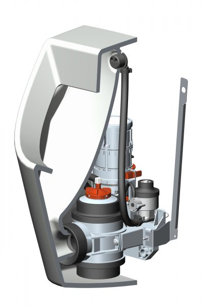 Evac Optima 5 urinal blueprint