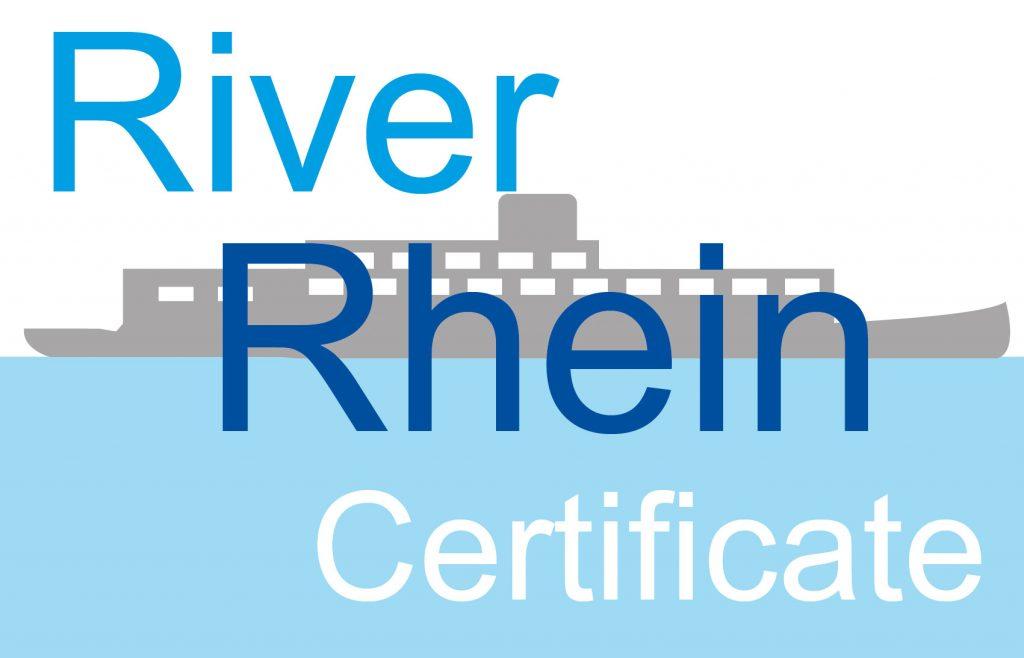 River Rhein Certificate