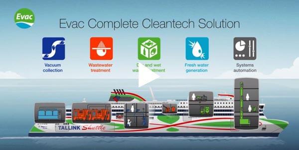 Evac Cleantech-kokonaisratkaisu Tallinkin Megastar-autolautalla