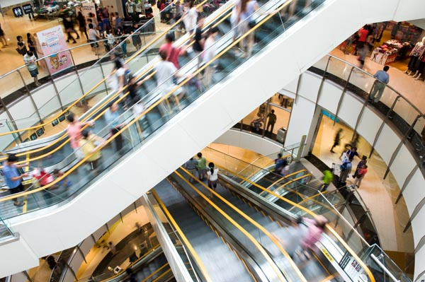 Evac systems for shopping malls
