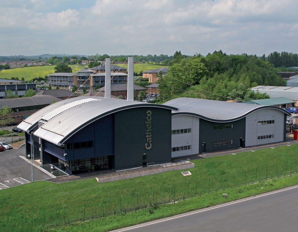 Cathelcon tehdas Chesterfieldissä, UK:ssa