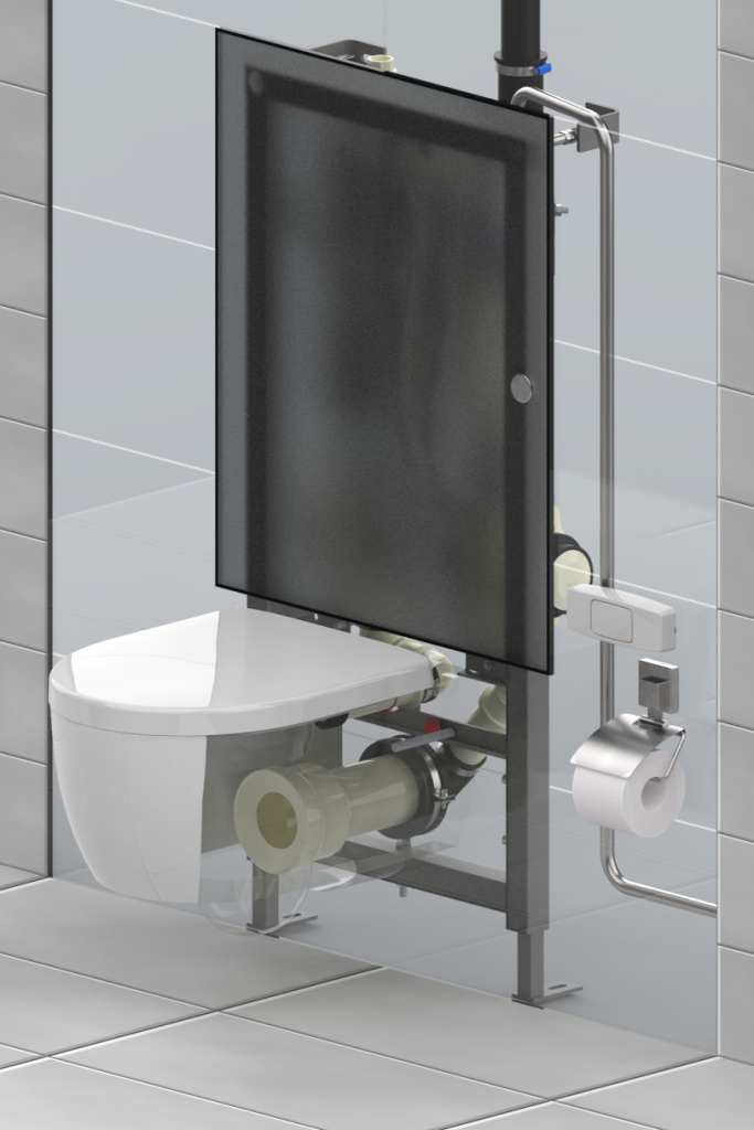 Evac VacuConvert gravity toilet adapter