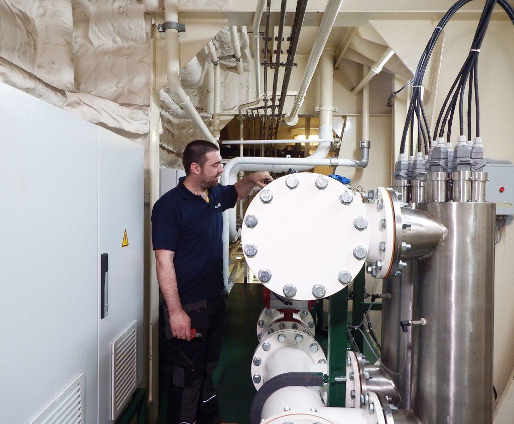 Evac Evolution ballast water management system